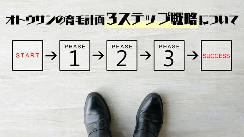 オトウサンの育毛計画「3ステップ戦略」について