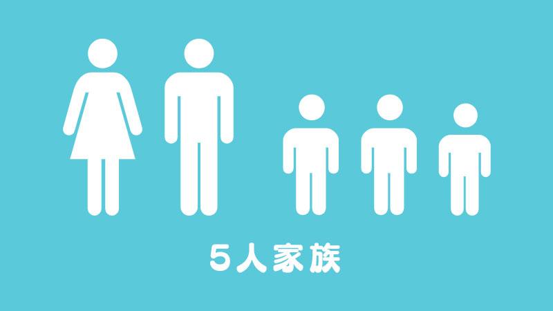 オトウサンファミリーは5人家族